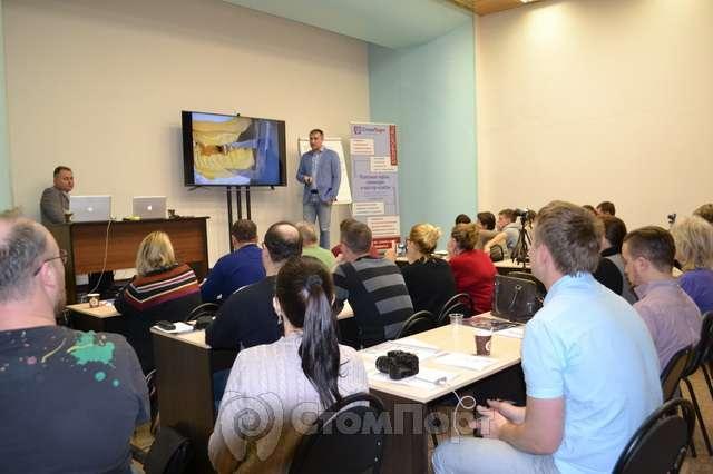 Евгений Рыбалка и Виталий Носов на курсе в учебном центре СтомПорт